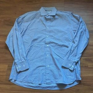 Gray pinstripe Christian Dior dress shirt